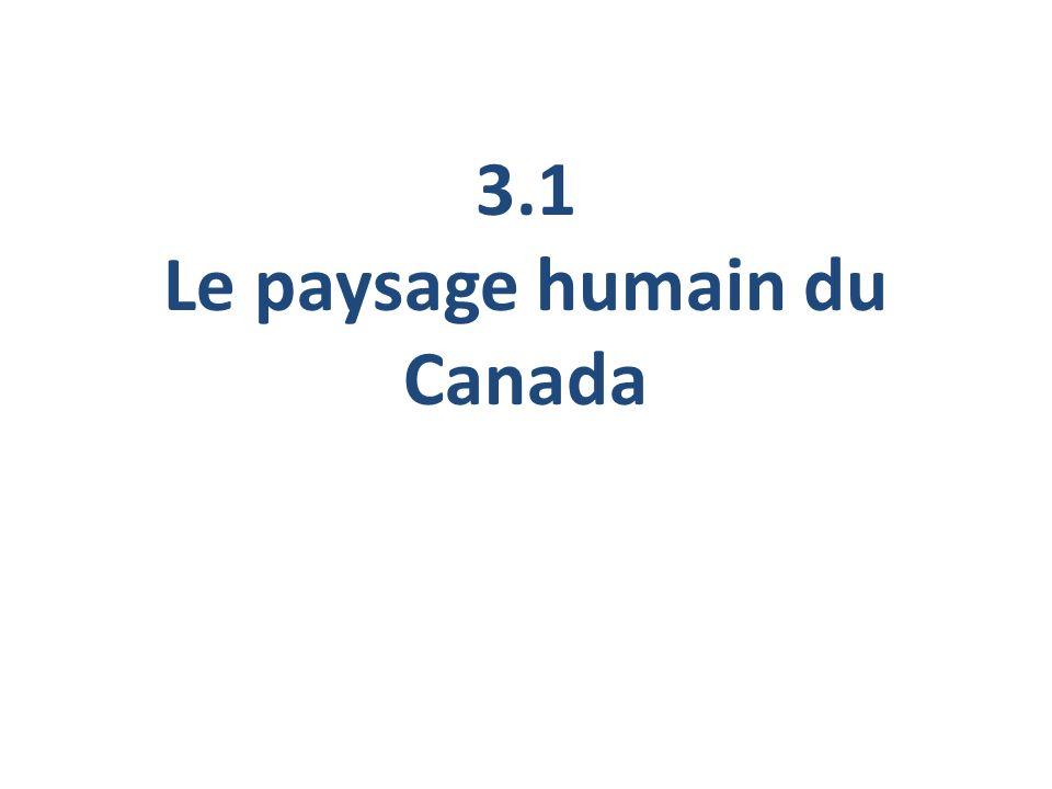 3.1 Le paysage humain du Canada