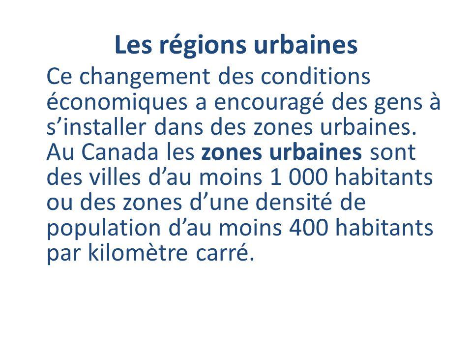 Les régions urbaines