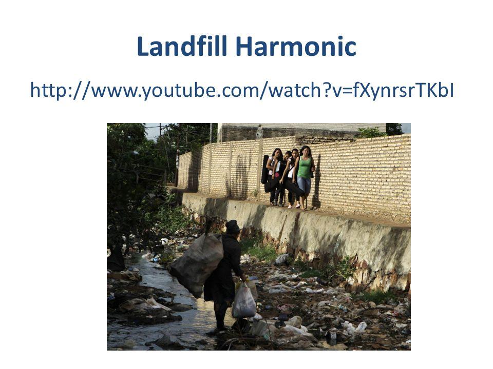 Landfill Harmonic http://www.youtube.com/watch v=fXynrsrTKbI