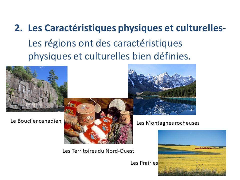 Les Caractéristiques physiques et culturelles-