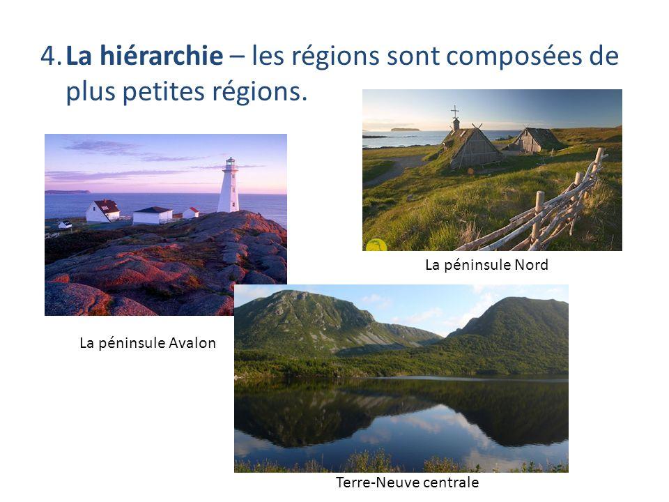4. La hiérarchie – les régions sont composées de plus petites régions.