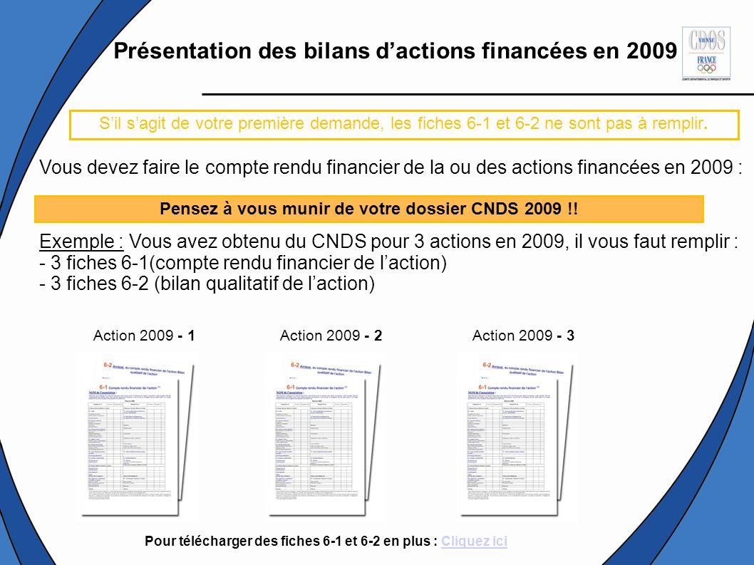 Présentation des bilans d'actions financées en 2009