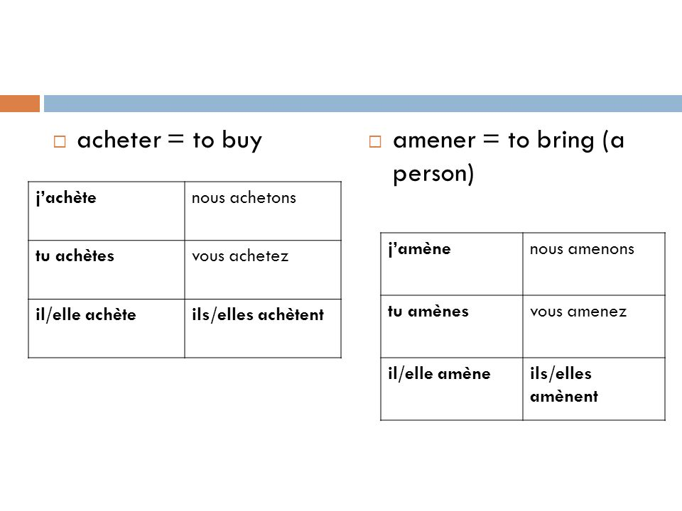 amener = to bring (a person)
