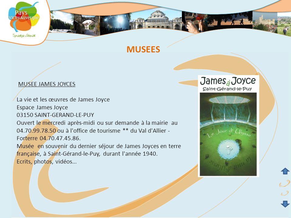 MUSEES MUSEE JAMES JOYCES La vie et les œuvres de James Joyce