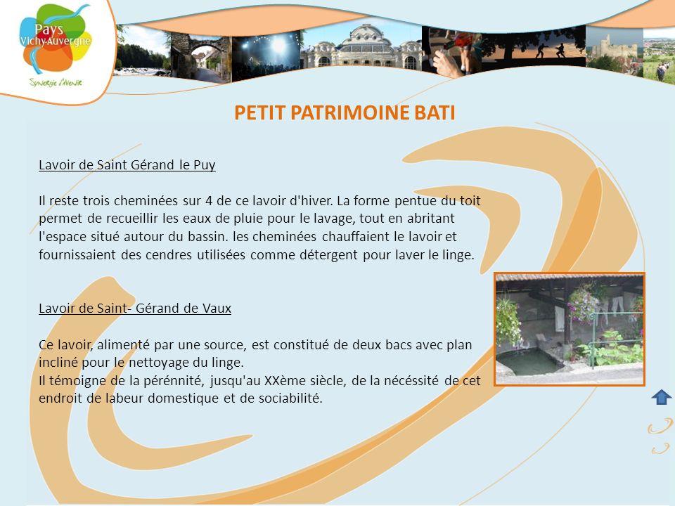 PETIT PATRIMOINE BATI Lavoir de Saint Gérand le Puy
