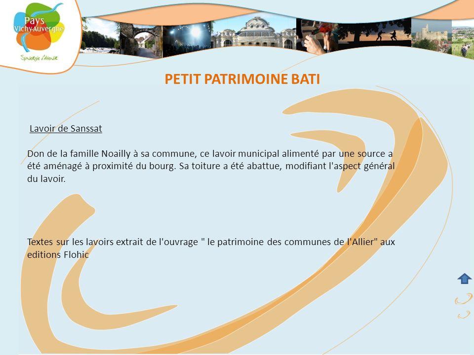 PETIT PATRIMOINE BATI Lavoir de Sanssat