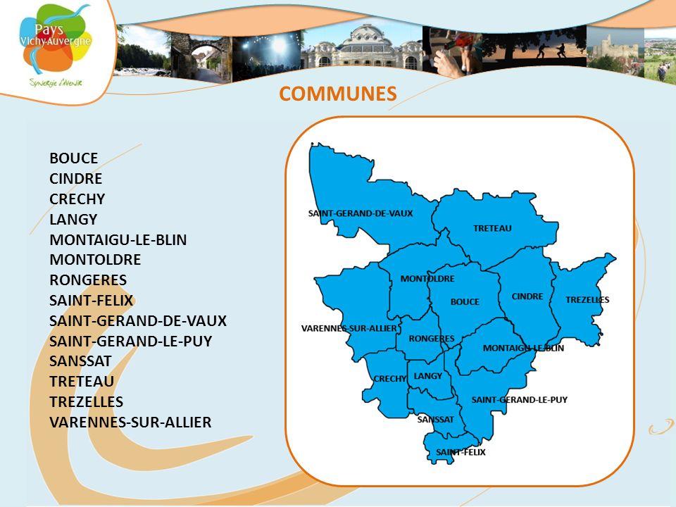COMMUNES BOUCE CINDRE CRECHY LANGY MONTAIGU-LE-BLIN MONTOLDRE RONGERES