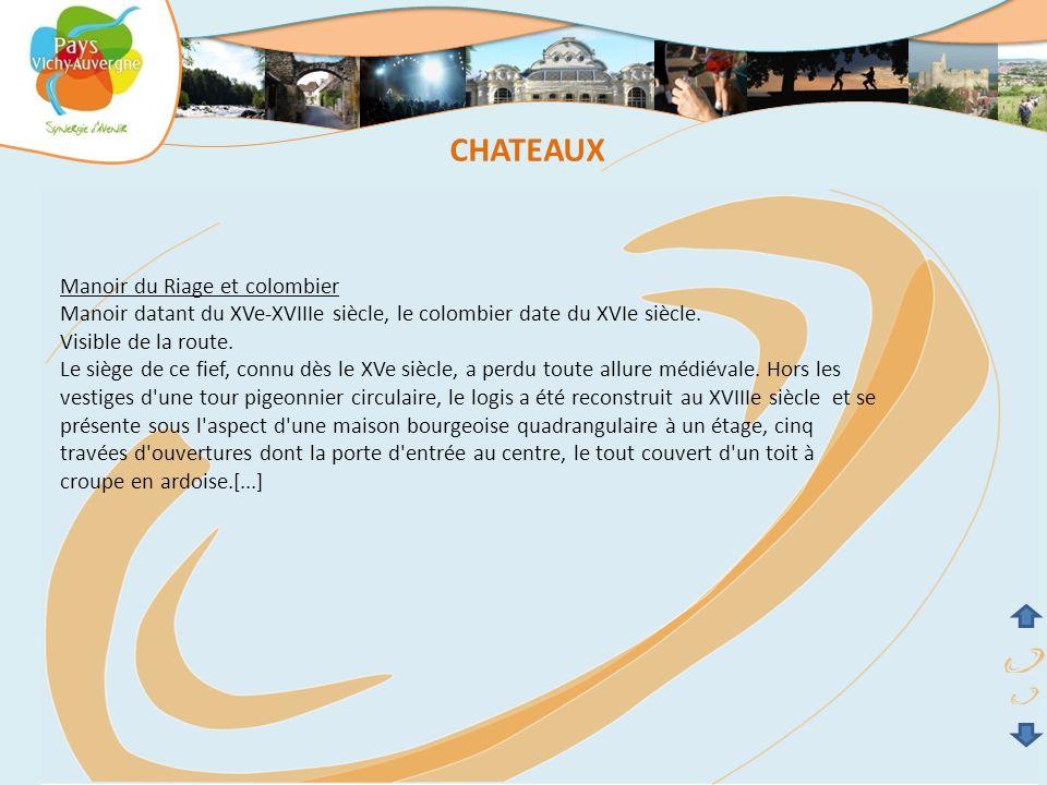 CHATEAUX Manoir du Riage et colombier