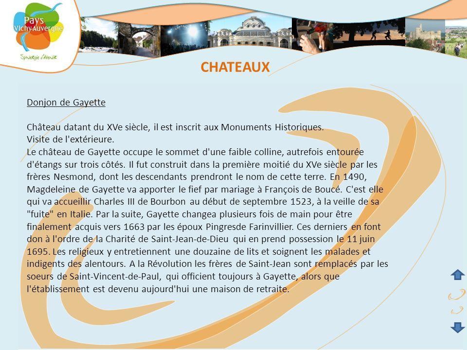 CHATEAUX Donjon de Gayette