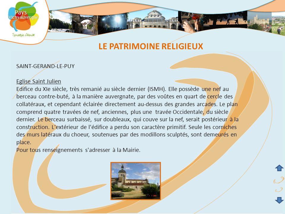 LE PATRIMOINE RELIGIEUX