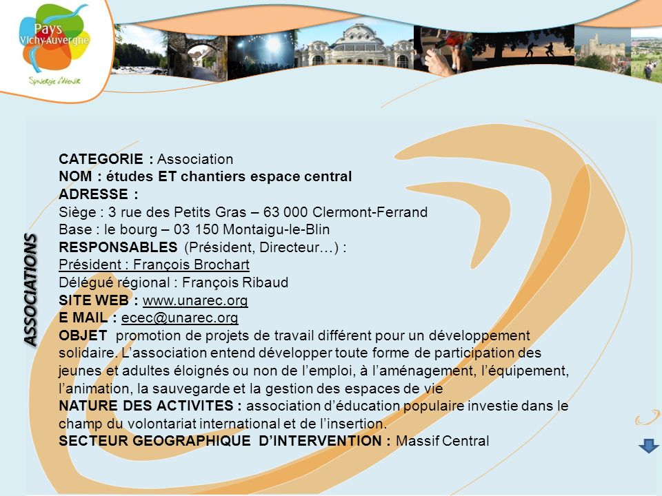 ASSOCIATIONS CATEGORIE : Association