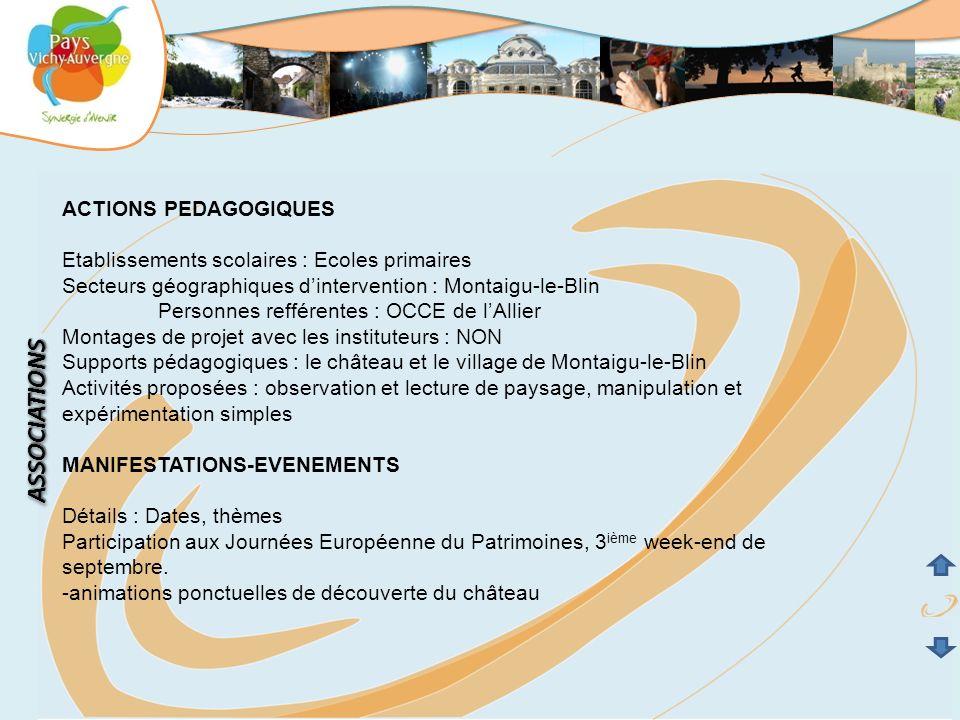 ASSOCIATIONS ACTIONS PEDAGOGIQUES