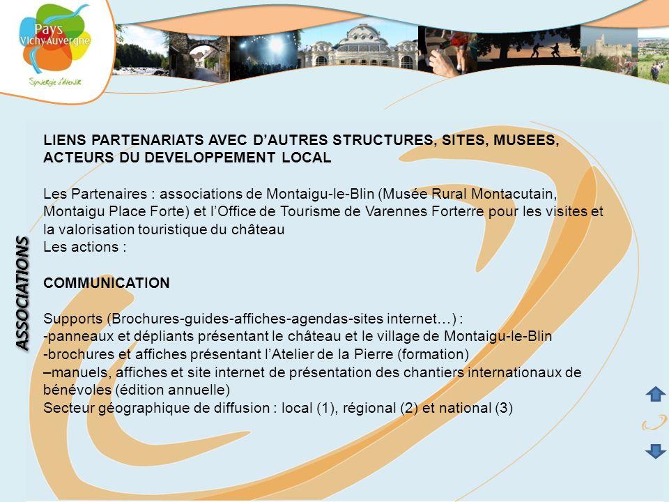 LIENS PARTENARIATS AVEC D'AUTRES STRUCTURES, SITES, MUSEES,