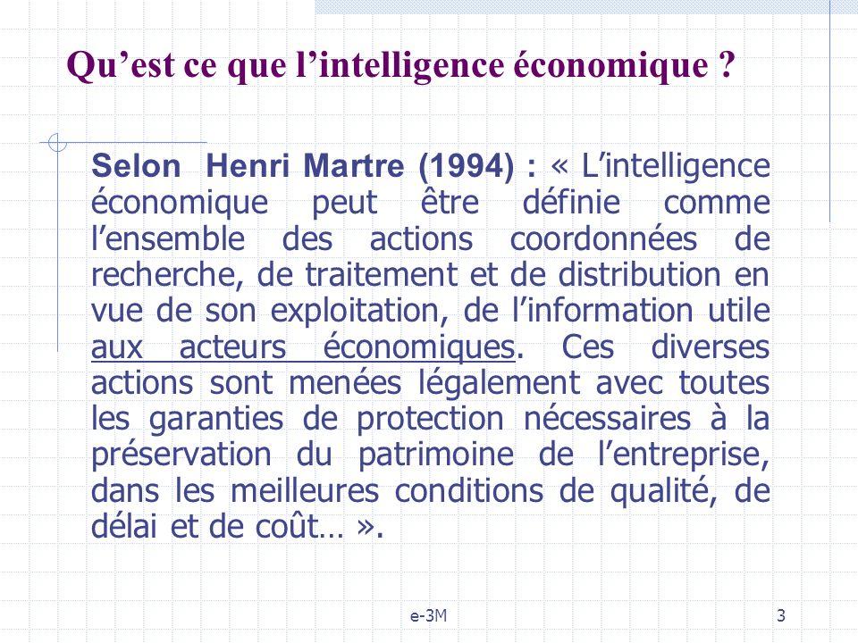 Qu'est ce que l'intelligence économique