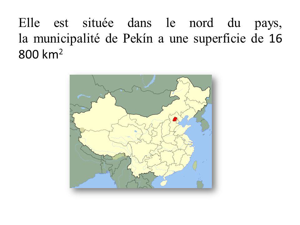 Elle est située dans le nord du pays, la municipalité de Pekín a une superficie de 16 800 km2