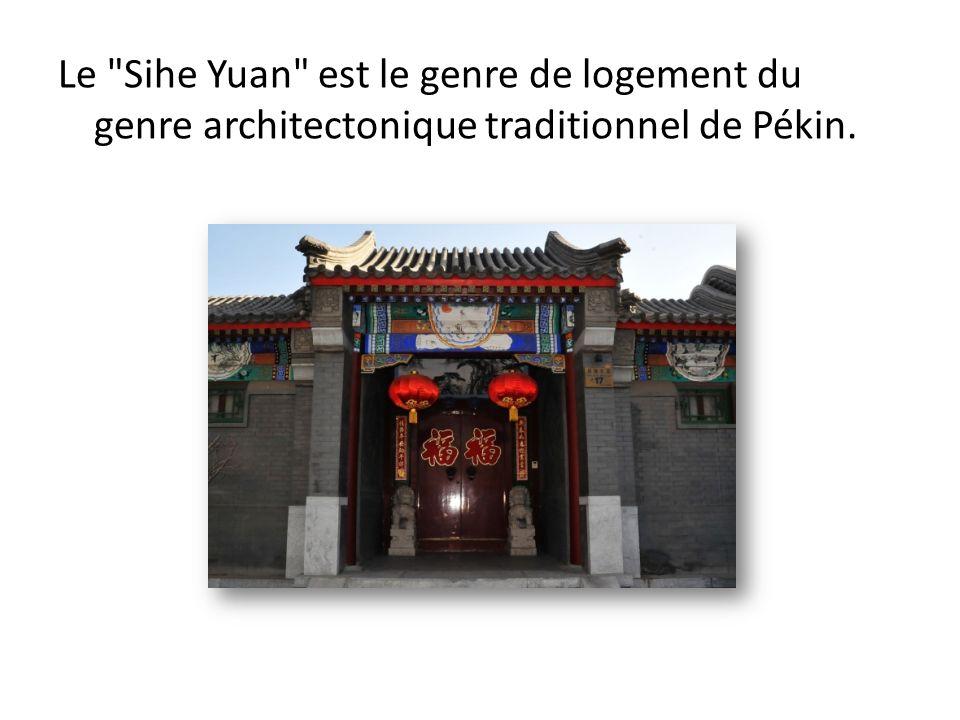 Le Sihe Yuan est le genre de logement du genre architectonique traditionnel de Pékin.