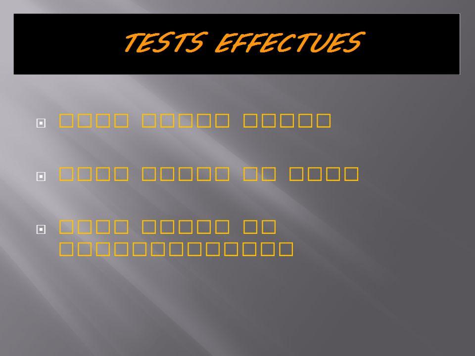 Test boite noire Test revue de code Test revue de documentation