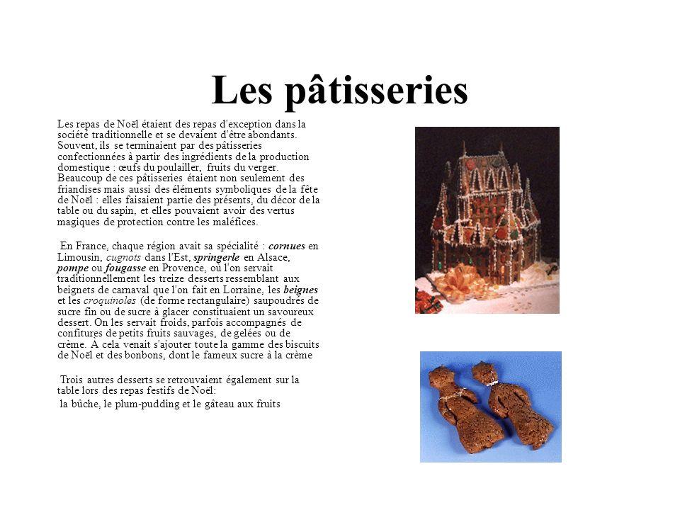 Les pâtisseries