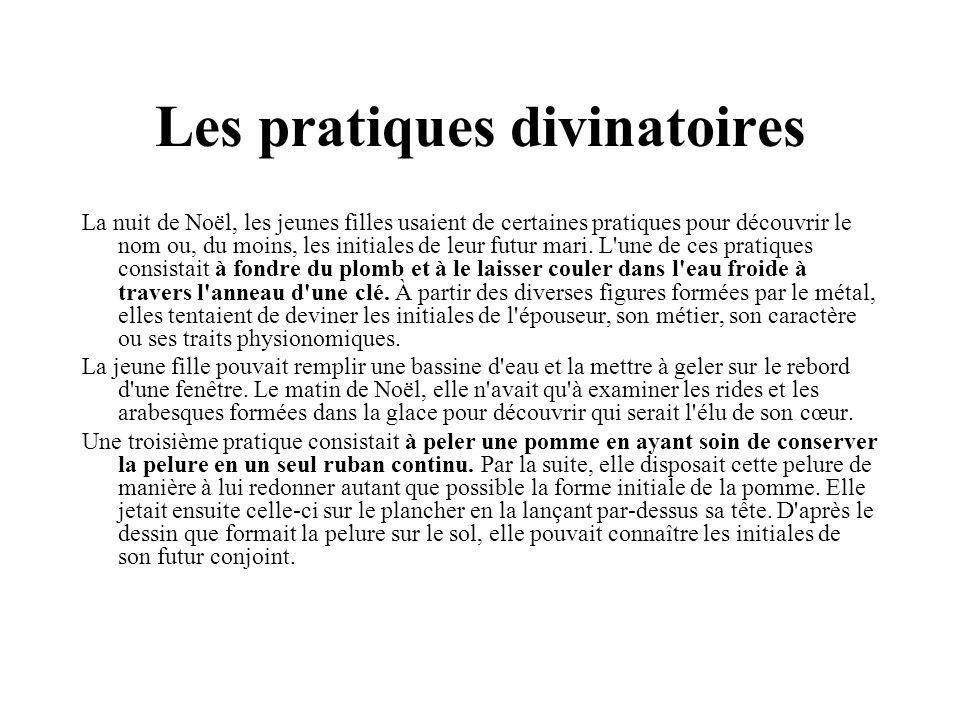 Les pratiques divinatoires
