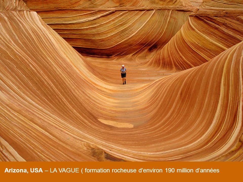 Arizona, USA – LA VAGUE ( formation rocheuse d'environ 190 million d'années