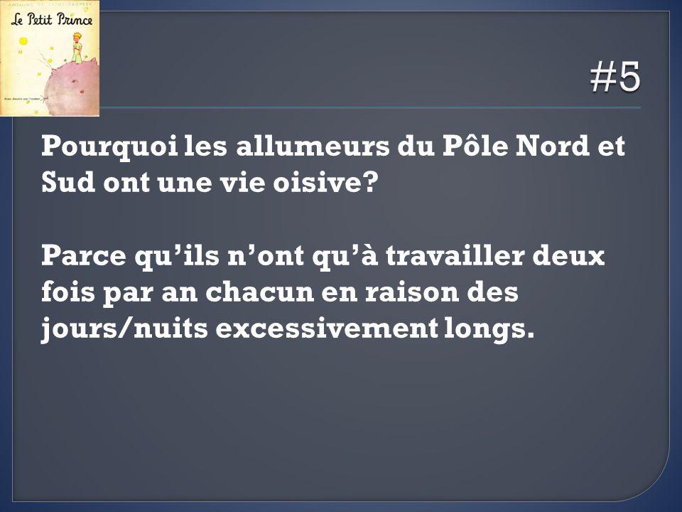 #5 Pourquoi les allumeurs du Pôle Nord et Sud ont une vie oisive