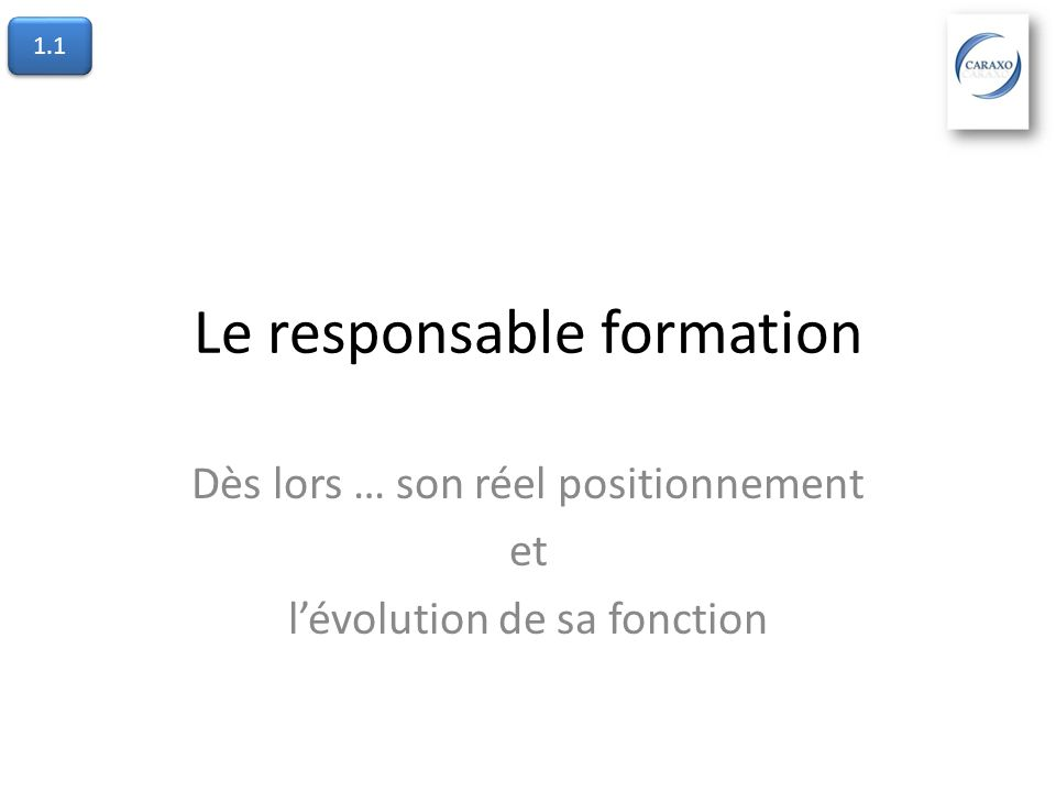 Le responsable formation