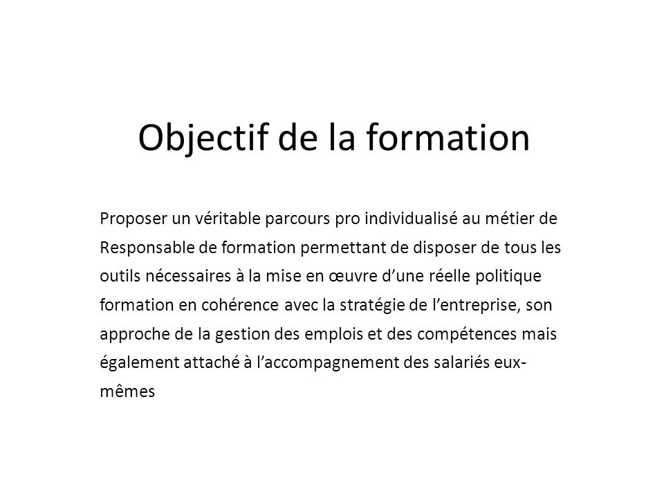 responsable formation