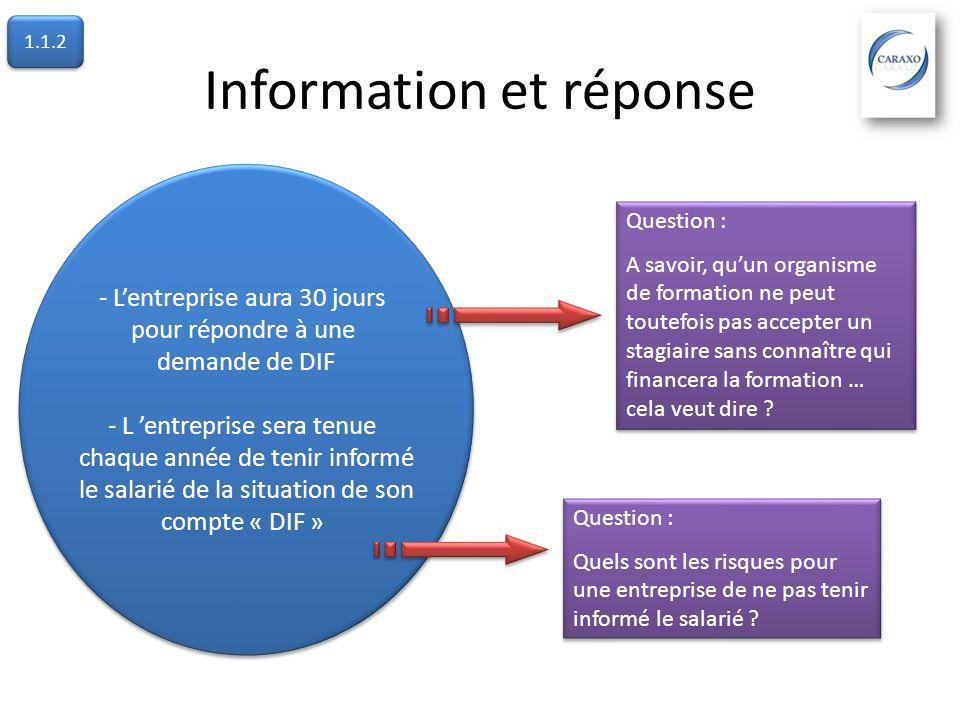 Information et réponse