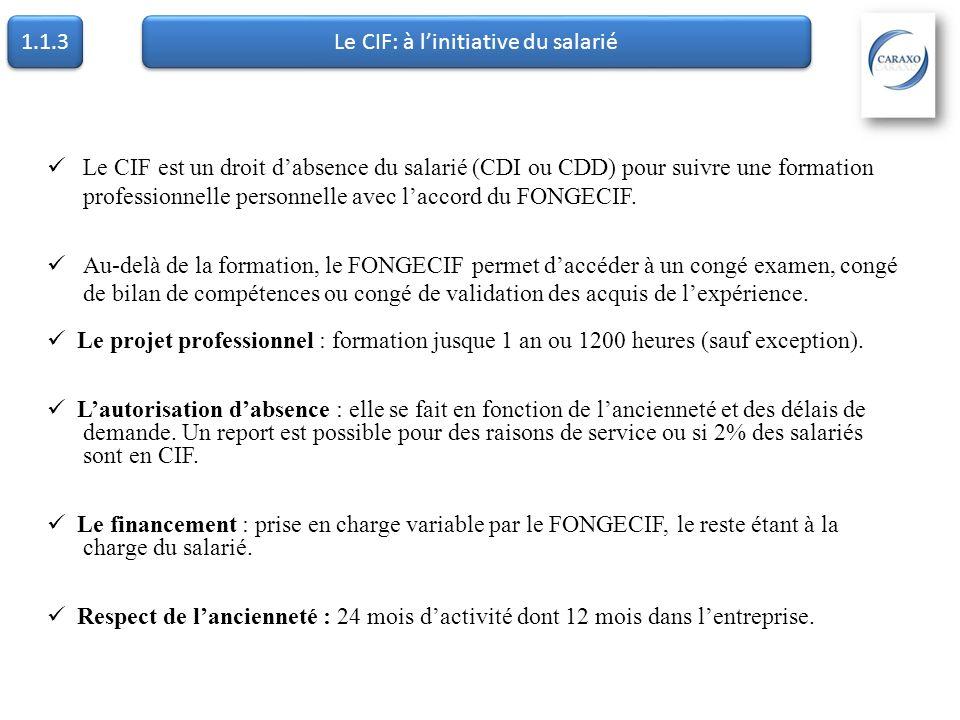 Le CIF: à l'initiative du salarié