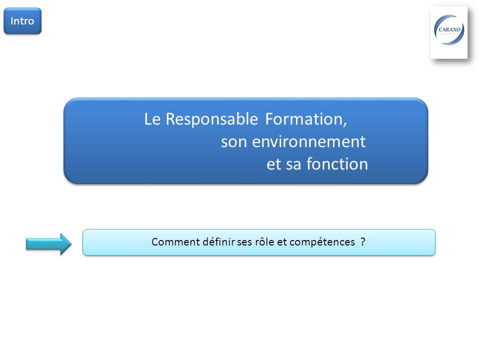 Le Responsable Formation, son environnement et sa fonction