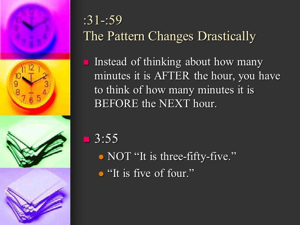 :31-:59 The Pattern Changes Drastically