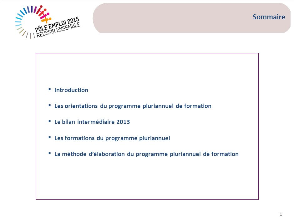 Introduction Les axes stratégiques de Pôle emploi 2015 nécessitent de renouveler les termes du contrat social :
