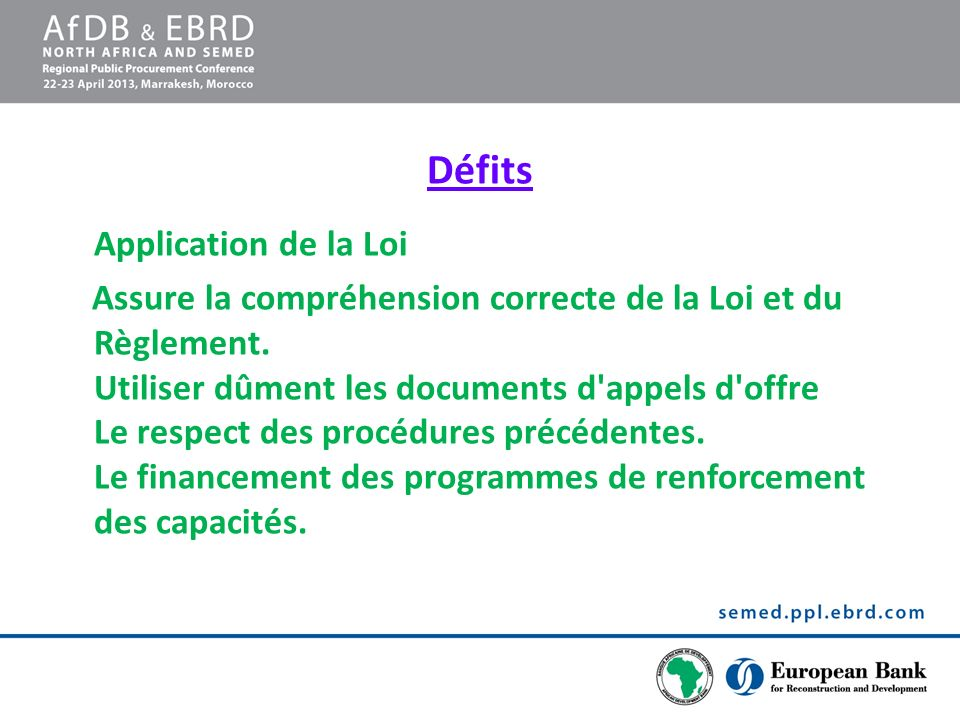 Défits Application de la Loi