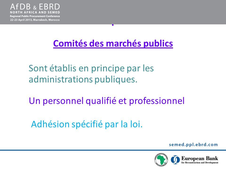 Comités des marchés publics