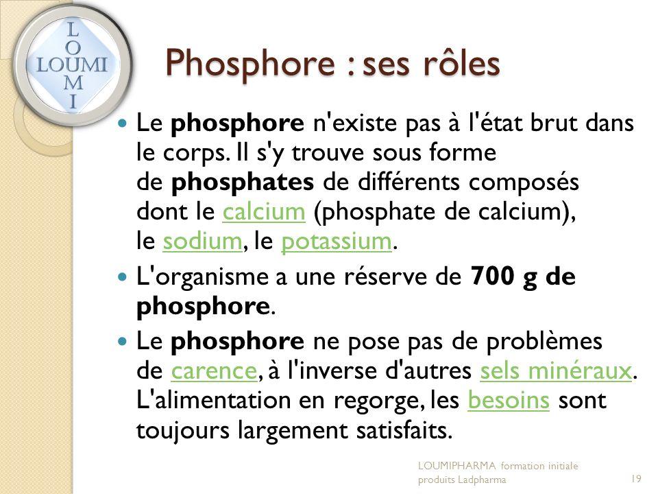 Phosphore : ses rôles