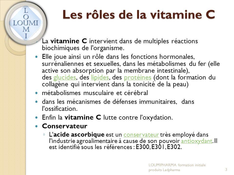 Les rôles de la vitamine C