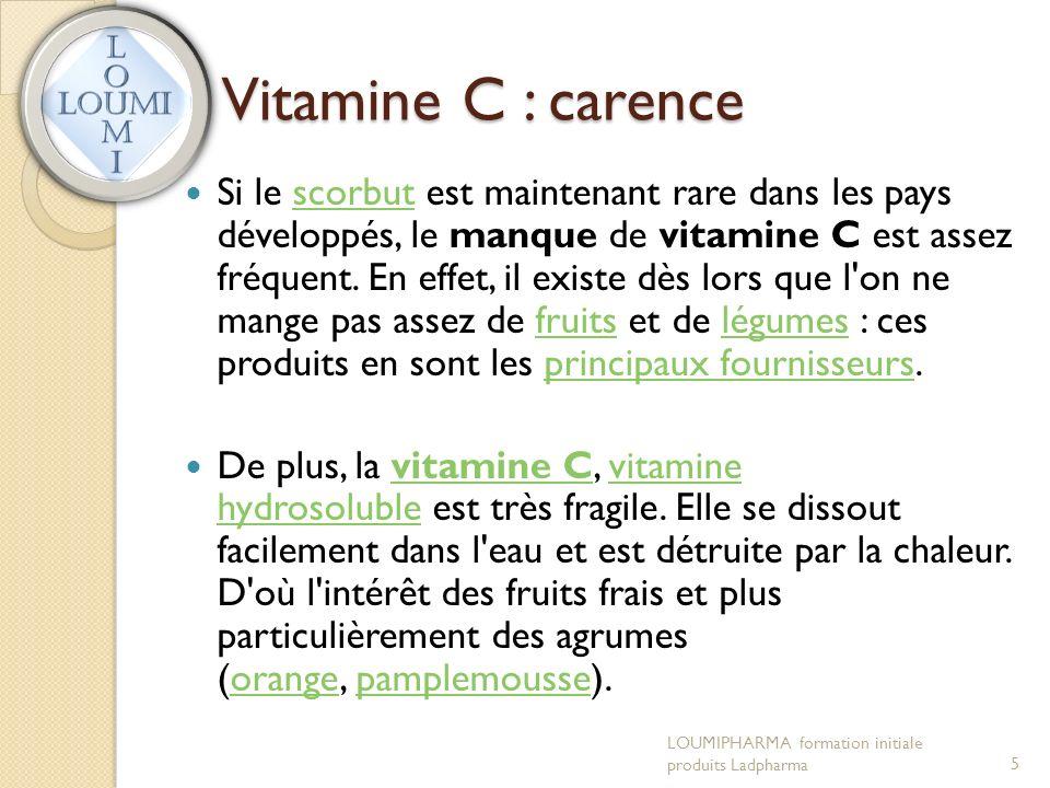 Vitamine C : carence