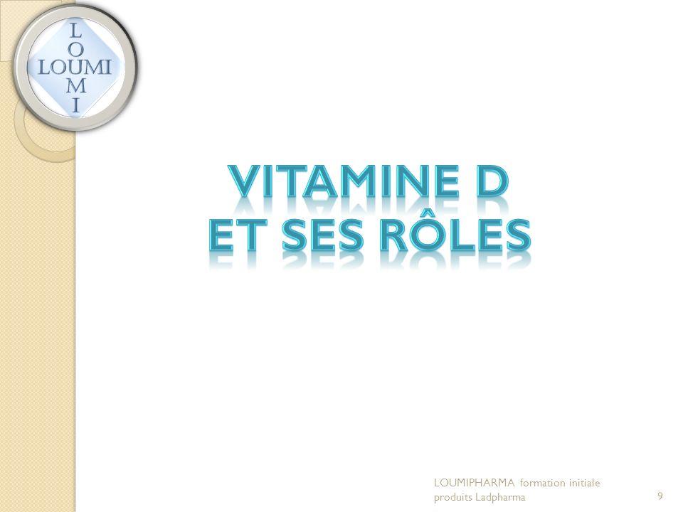 Vitamine D et ses rôles LOUMIPHARMA formation initiale produits Ladpharma