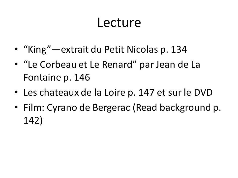 Lecture King —extrait du Petit Nicolas p. 134