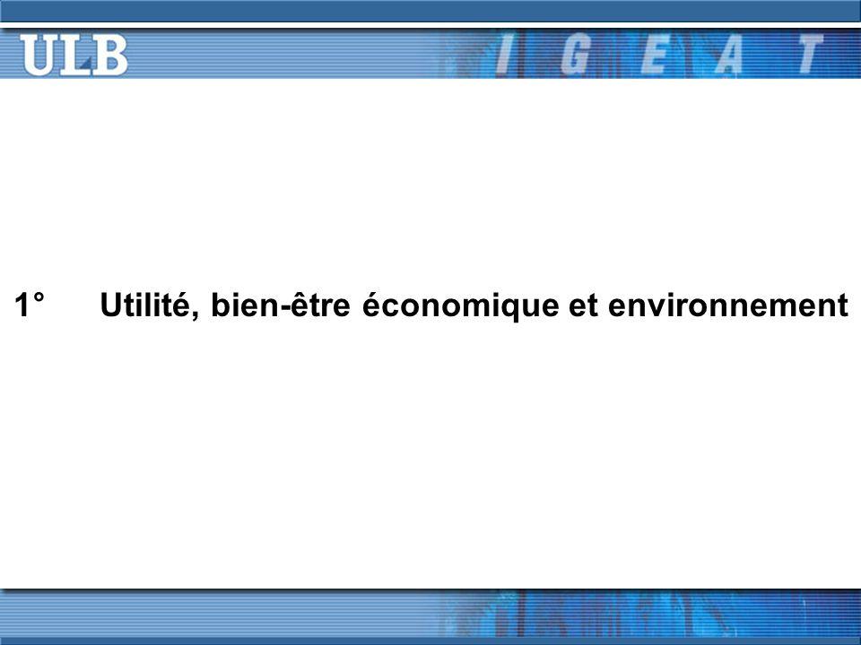 1° Utilité, bien-être économique et environnement