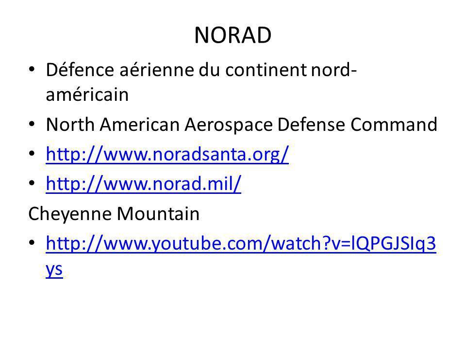 NORAD Défence aérienne du continent nord-américain