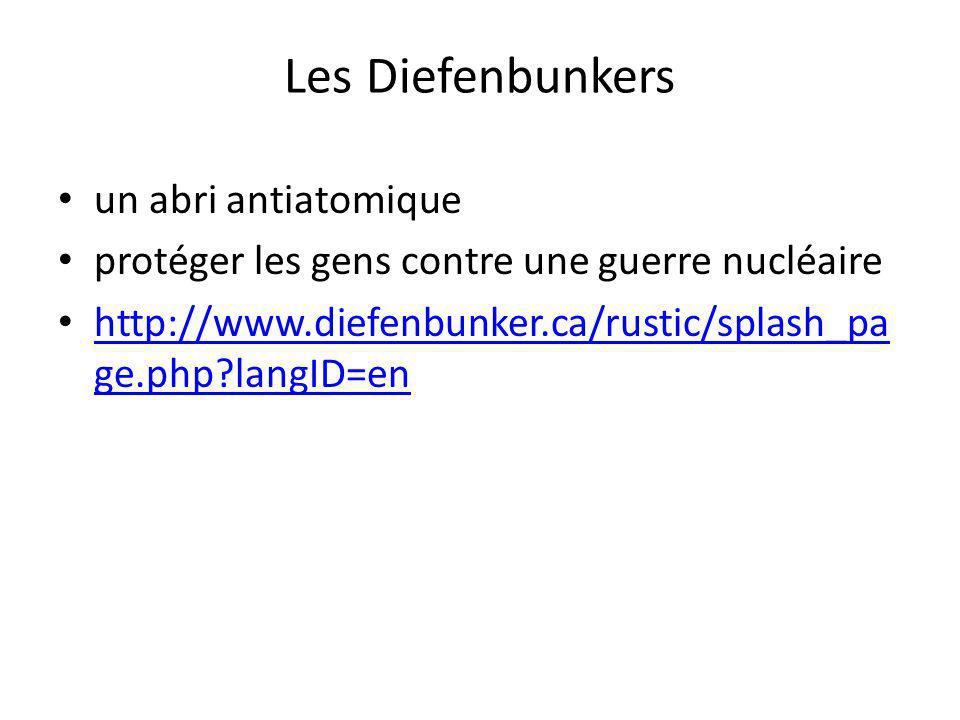 Les Diefenbunkers un abri antiatomique