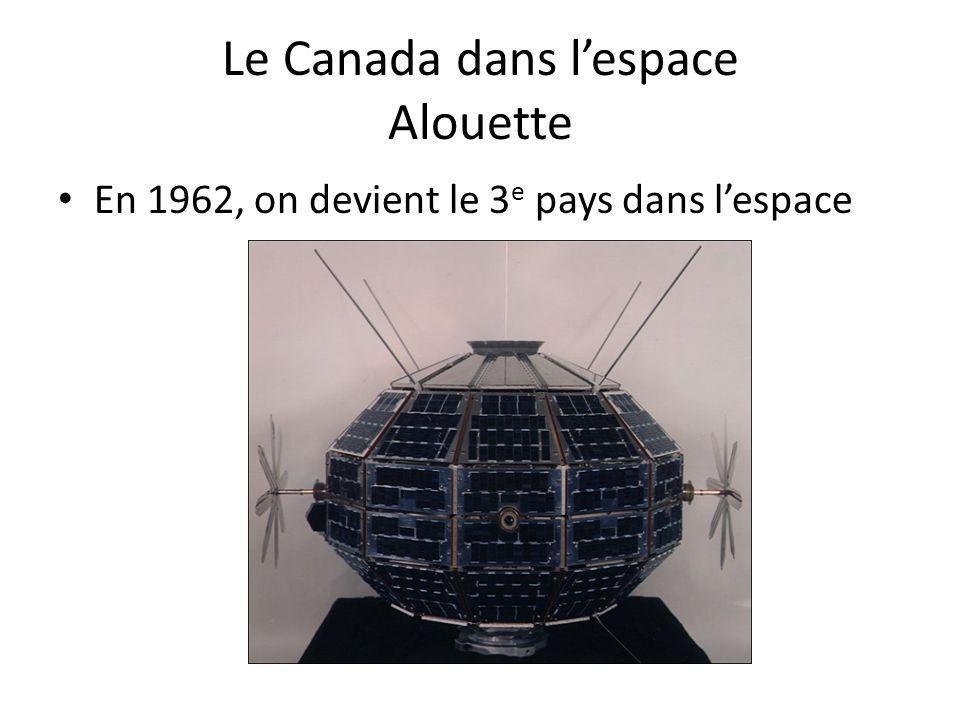 Le Canada dans l'espace Alouette