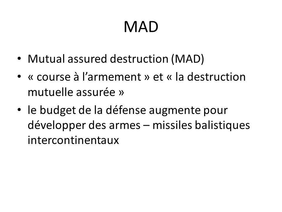 MAD Mutual assured destruction (MAD)