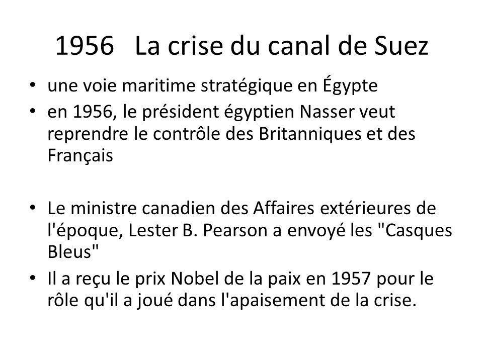 1956 La crise du canal de Suez