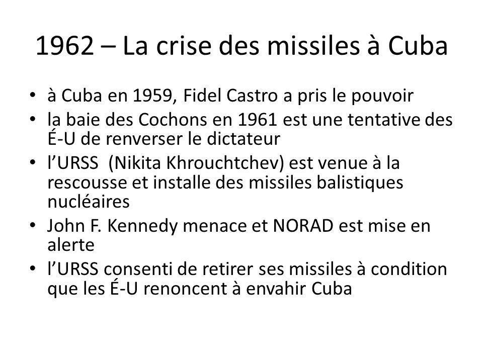 1962 – La crise des missiles à Cuba