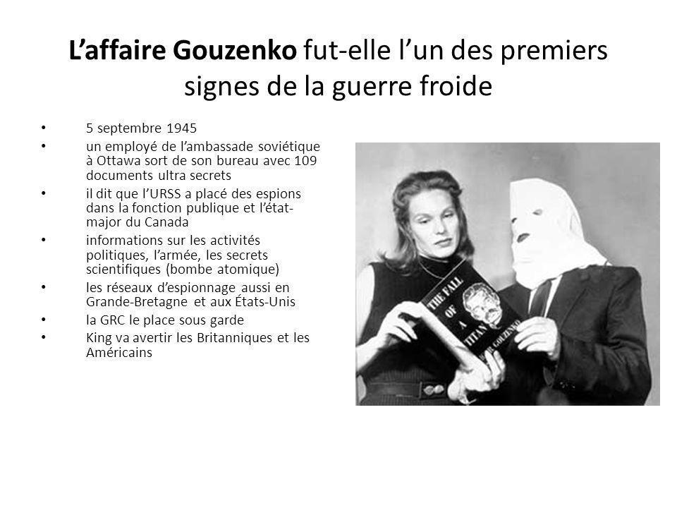 L'affaire Gouzenko fut-elle l'un des premiers signes de la guerre froide