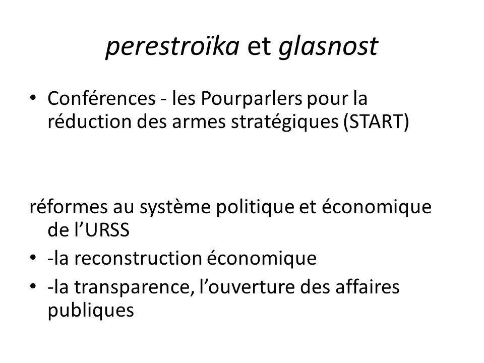 perestroïka et glasnost