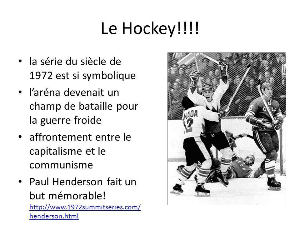 Le Hockey!!!! la série du siècle de 1972 est si symbolique