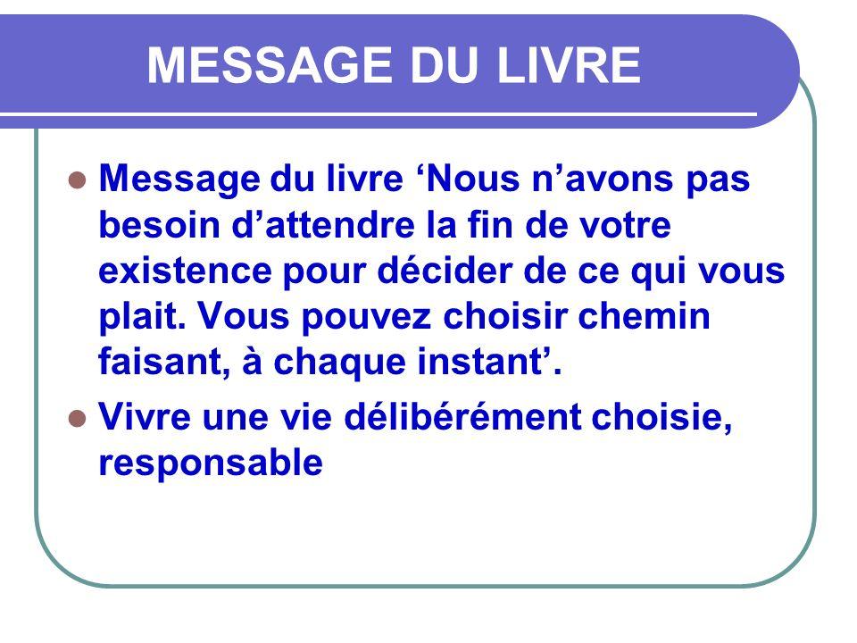 MESSAGE DU LIVRE